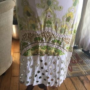 Hand made embroidery skirt with intricate designs